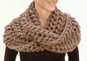 Infinity Scarf Knitting Pattern Tutorial Photo