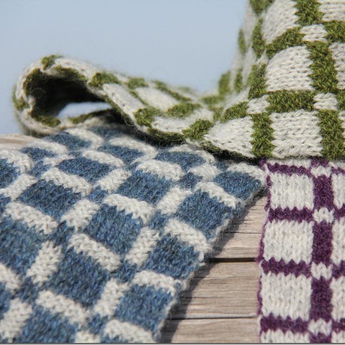 Double Knit Scarf Pattern A Knitting Blog