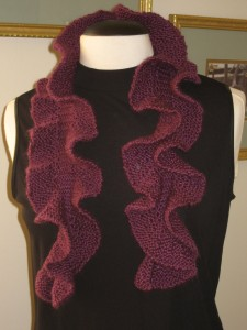 Potato Chip Scarf Knitting Pattern Tutorial Pictures