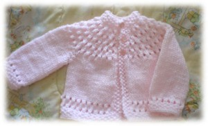 Pretty Baby Sweater Knitting Pattern Photos
