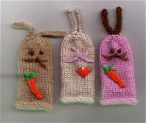 Rabbit Finger Puppets Knitting Pattern Image