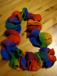 Rainbow Potato Chip Scarf Knitting Pattern Picture