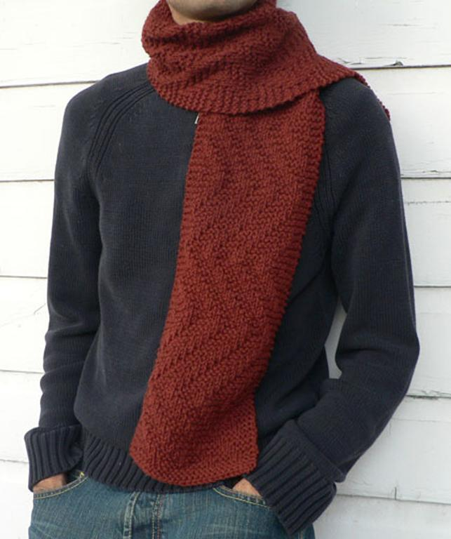 Mens Knit Scarf Pattern A Knitting Blog