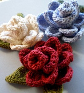 Rose Knit Flower Pattern Pictures