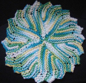 Images of Round Knit Dishcloth Pattern
