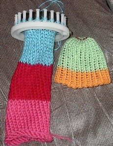 Round Loom Knit Newborn Hat Image