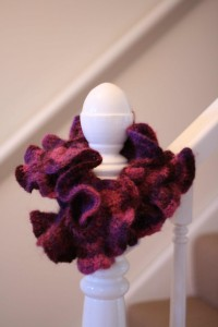 Photos of Ruffle Scarf Knitting Pattern Designs