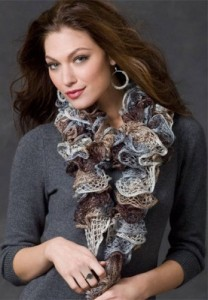Ruffled Sashay Scurf Knitting Pattern Pictures