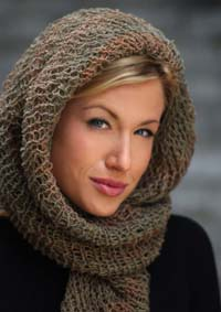 Scarf Head Wrap Loom Knitting Pattern Tutorial Picture