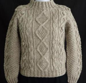 Seamless Aran Sweater Knitting Pattern Images