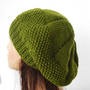 Seed Stitch Beret Hat Knit Pattern Images