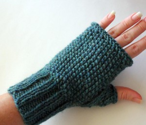 Seeded Fingerless Gloves Knitting Pattern Photos