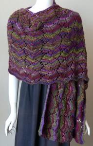 Shell Lace Shawl Knitting Pattern Images
