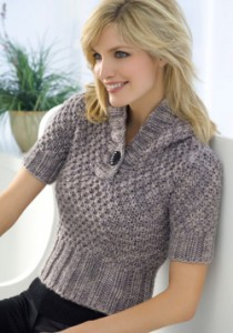 Short Sleeve Chunky Knit Sweater Pattern Images