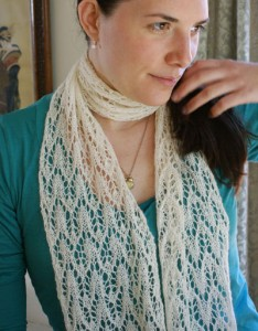 Silky Alpaca Lace Scarf Knitting Pattern Images