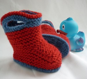 Simple Baby Booties Knitting Pattern Images