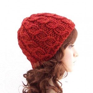 Images of Simple Cable Beanie Knit Hat Pattern