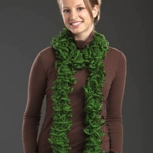 Pictures of Skein Ruffle Knitting Scarf Pattern Instruction