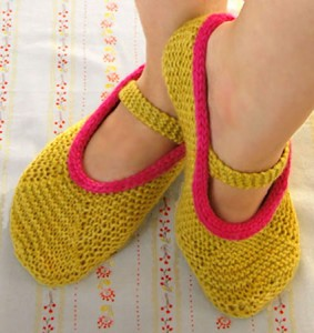 Slipper Knitting Pattern Image