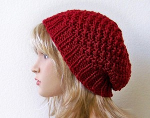 Slouchy Hat Knitting Pattern Pictures