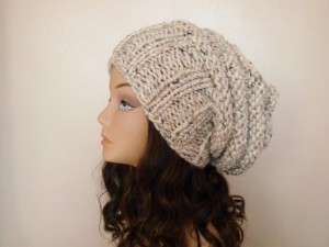 Slouchy Hat Knitting Pattern For Women Images