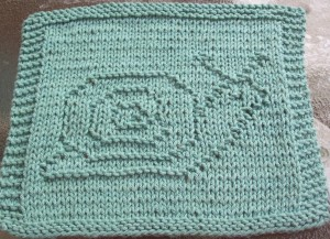 Pictures of Snail Knit Dishcloth Pattern