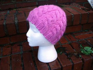 Pictures of Snappy Cabled Knit Hat Pattern