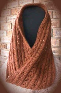 Soft Cables Mobius Scarf Knitting Pattern Tutorial Images