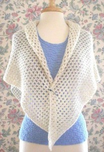 Spring Lace Wrap Knitting Pattern Photo
