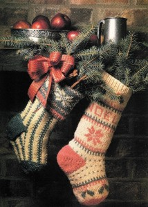 Picture of Stocking Christmas Knitting Pattern