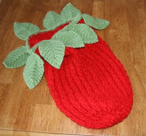 Pictures of Strawberry Baby Cocoon Knitting Pattern