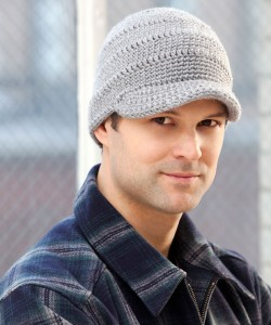 Pictures of Streetwise Brim Hat Knitting Pattern For Men
