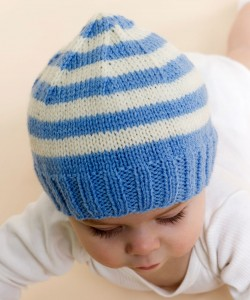 Pictures of Stripe Knit Baby Hat Pattern
