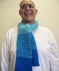 Striped Rib Knit Scarf Pattern Tutorial Images