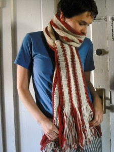 Stripped Knitting Scarf Pattern Instruction Picture