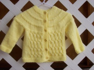 Sunshine Baby Sweater Knitting Pattern Image