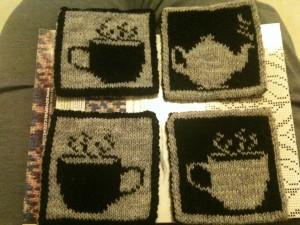 Tea Set Pot Holder Double Knitting Pattern Photos