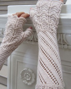 Photo of Terzetto Lace Mitts Knitting Pattern