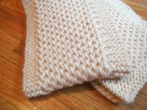 Tesoro Chunky Knit Scarf Pattern Picture
