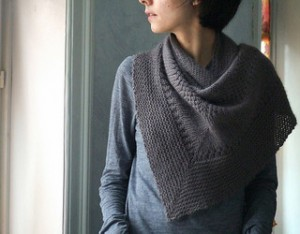 Pictures of Textured Shawl Knitting Pattern