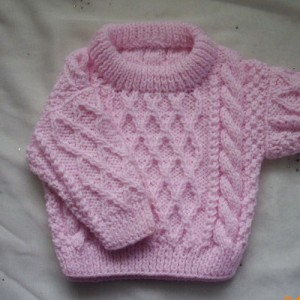 Treabhair Baby Sweater Knitting Pattern Images