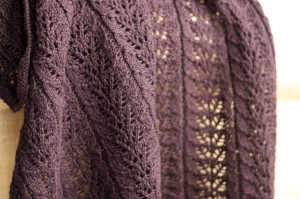 Image of Twin Leaf Knitted Afghan Pattern