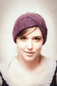 Twist Ear Warmer Knitting Pattern Images