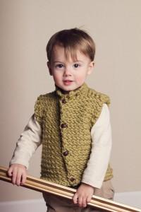 Images of Unisex Vest Herringbone Knitting Pattern