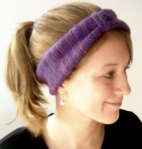Urban Ear Warmer Headband Knitting Pattern Photos