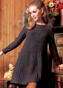 Vintage Sweater Dress Knitting Pattern Image