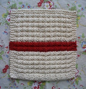 Waffle Knit Dishcloth Knitting Pattern Picture