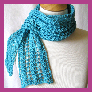 Pictures of Zig Zag Knit Lace Scarf Pattern