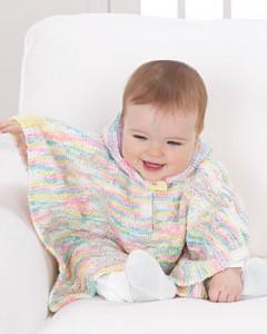 Photo of Baby Poncho Knitting Pattern