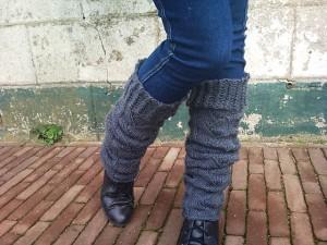 Bohemian Leg Warmer Knitting Pattern Photos